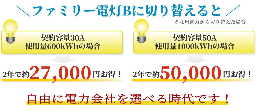 九州エリア ファミリー電灯B